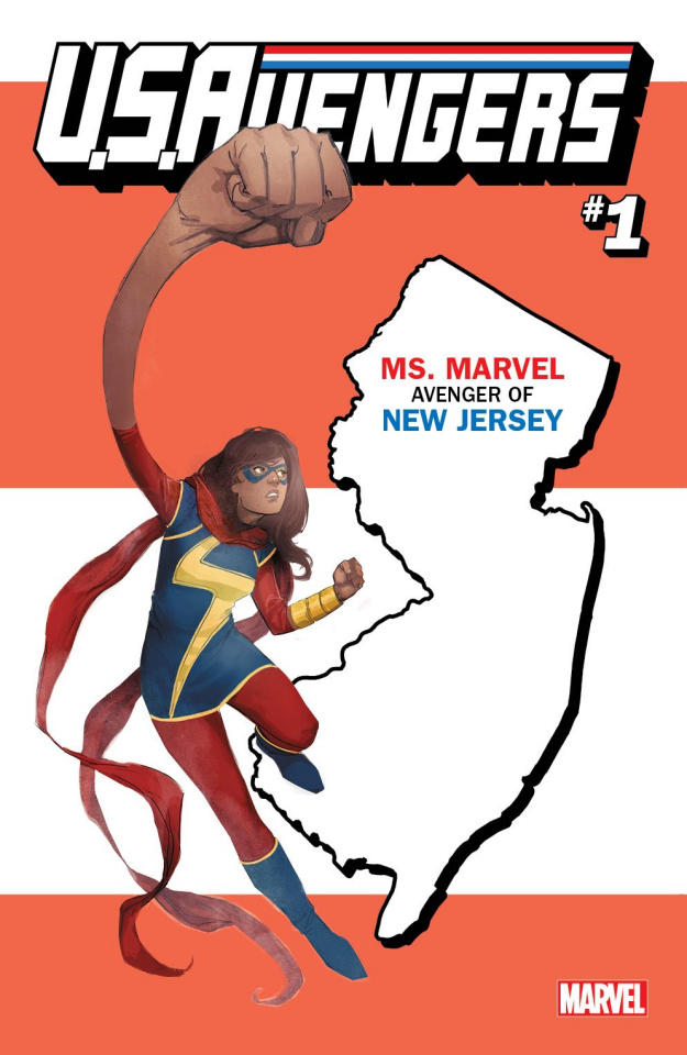 U.S.Avengers #1 (Reis New Jersey State Cover)