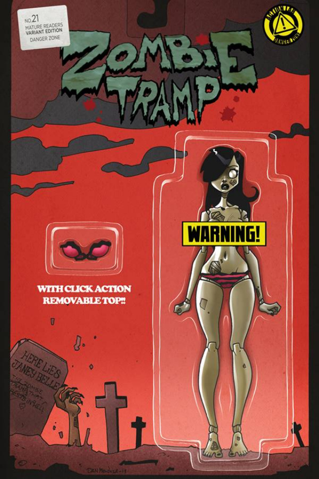 Zombie Tramp #21 (Action Figure Risque Cover)