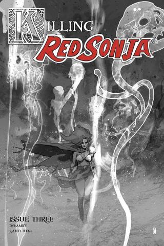 Killing Red Sonja #3 (10 Copy Ward Grayscale Cover)