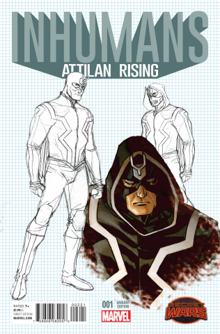 Inhumans: Attilan Rising #2 (Johnson Design Cover)