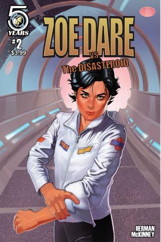 Zoe Dare vs. The Disasteroid #2 (Herman Cover)