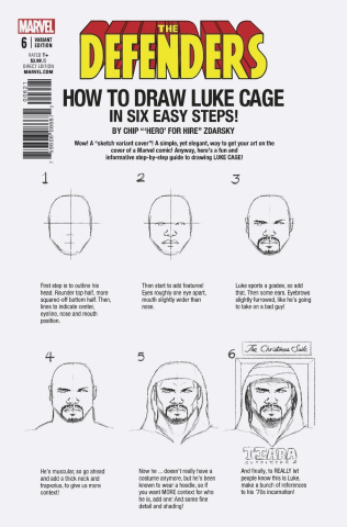 The Defenders #6 (Zdarsky How To Draw Cover)
