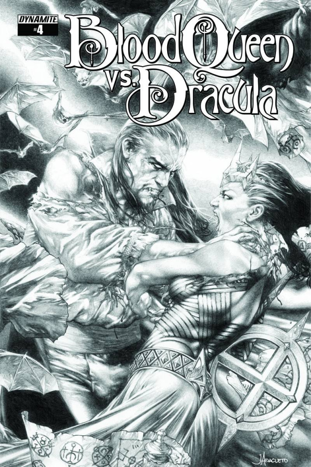 Blood Queen vs. Dracula #4 (10 Copy Anacleto B&W Cover)