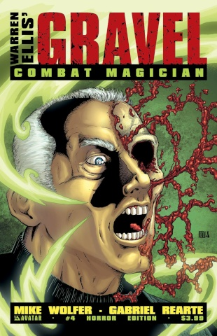 Gravel: Combat Magician #4 (Horror Cover)