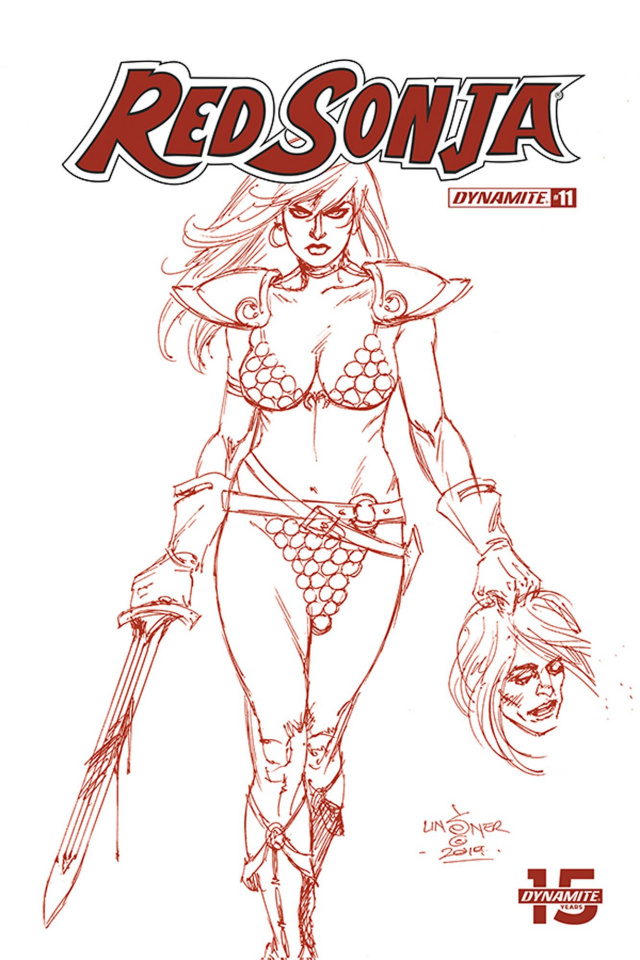 Red Sonja #11 (25 Copy Linsner Tint Dressed Cover)