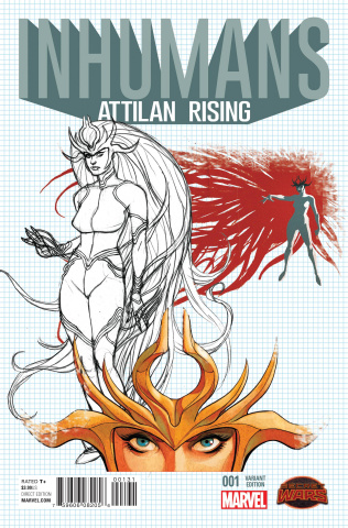 Inhumans: Attilan Rising #1 (Johnson Design Cover)
