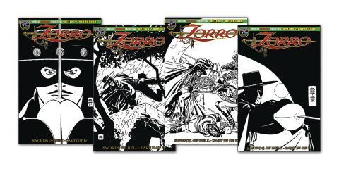 Zorro: Swords of Hell #1-4 (Toth Art Set)