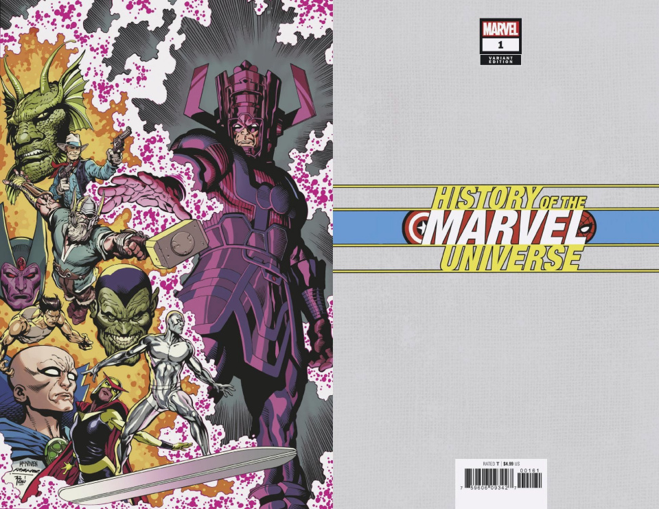 History of the Marvel Universe #1 (McNiven Virgin Cover)