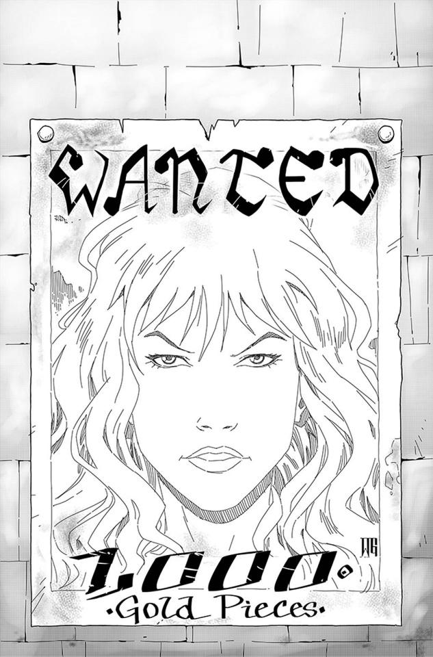 Red Sonja: The Price of Blood #3 (25 Copy Geovani B&W Virgin Cover)