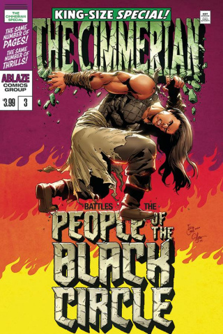 The Cimmerian: People of the Black Circle #3 (Casas Hulk Homage Cover)