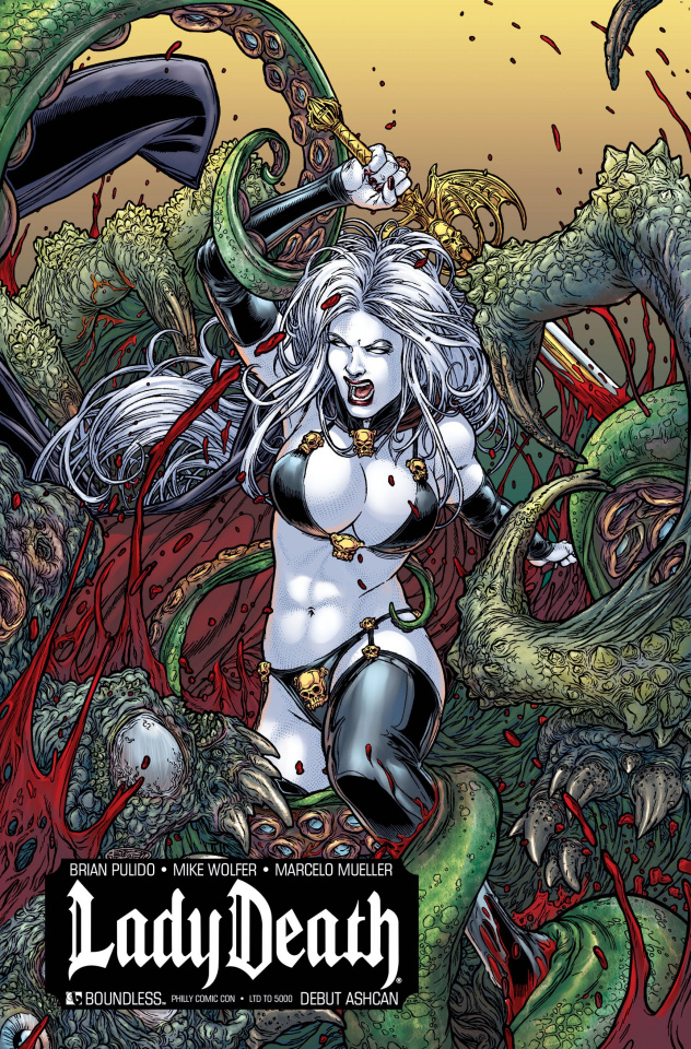 Lady Death: Debut Ashcan (Philadelphia Cover)