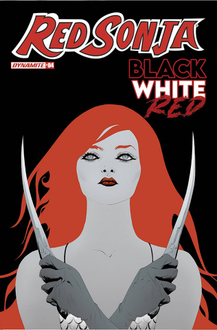 Red Sonja: Black, White, Red #4 (Lee Cover)