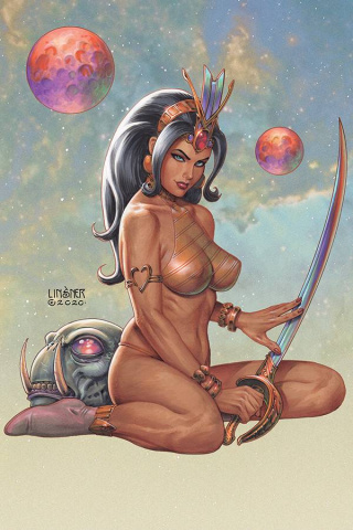 Dejah Thoris #8 (Linsner Virgin Cover)