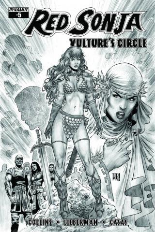 Red Sonja: Vulture's Circle #5 (20 Copy Geovani B&W Cover)