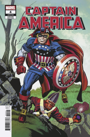Captain America #4 (Kirby Remastered Cover)