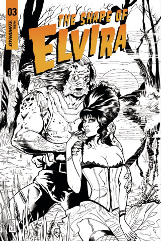 The Shape of Elvira #3 (30 Copy Acosta B&W Cover)