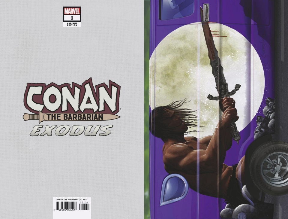 Conan the Barbarian: Exodus #1 (Horn Van Cover)