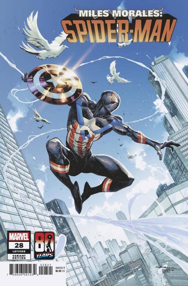 Miles Morales: Spider-Man #28 (Coello Captain America 80th Anniversary Cover)