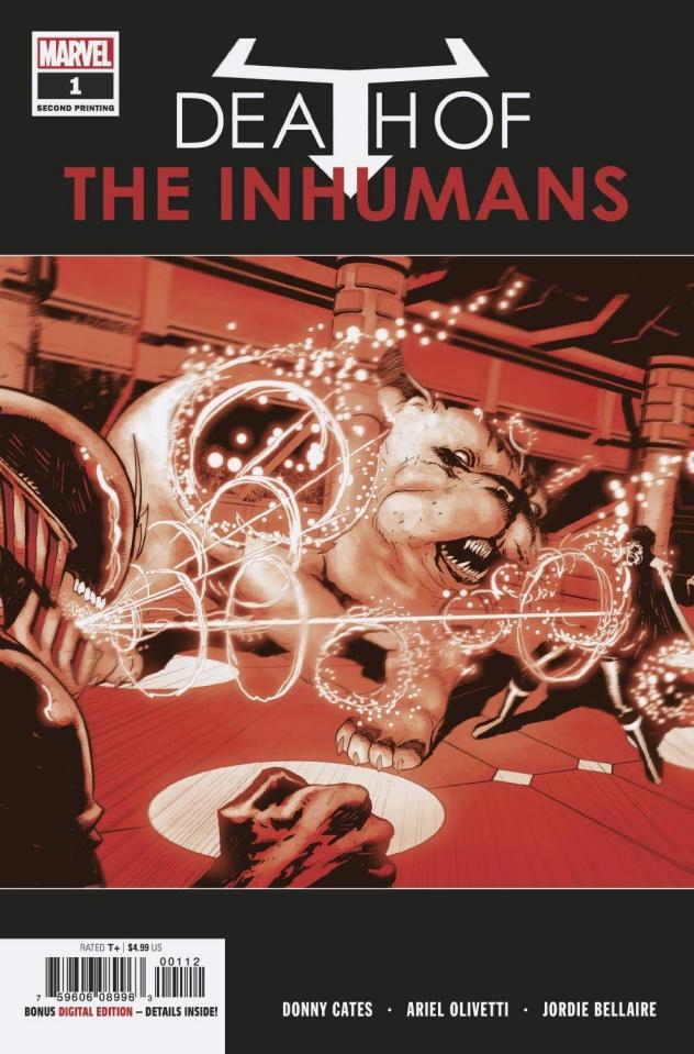Death of the Inhumans #1 (Olivetti 2nd Printing)
