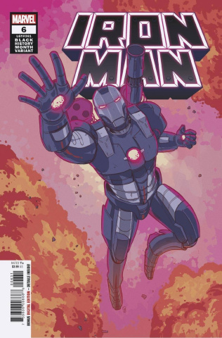 Iron Man #6 (Souza War Machine Black History Month Cover)