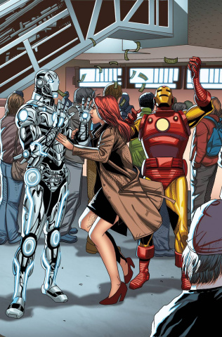 Superior Iron Man #4 (Larroca Welcome Home Cover)
