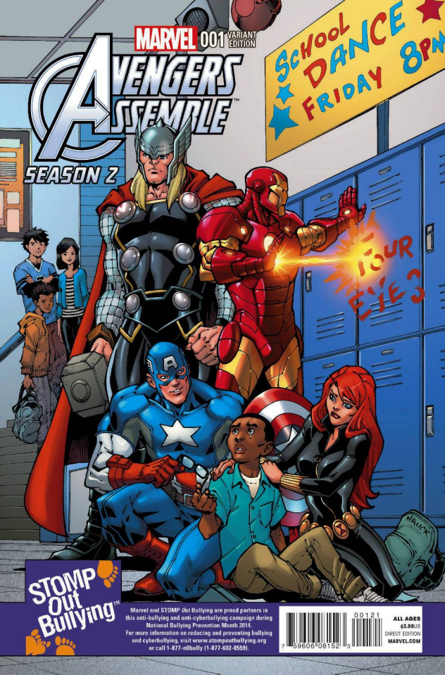 Avengers Assemble, Season Two #1 (Stomp Out Bullying Cover)