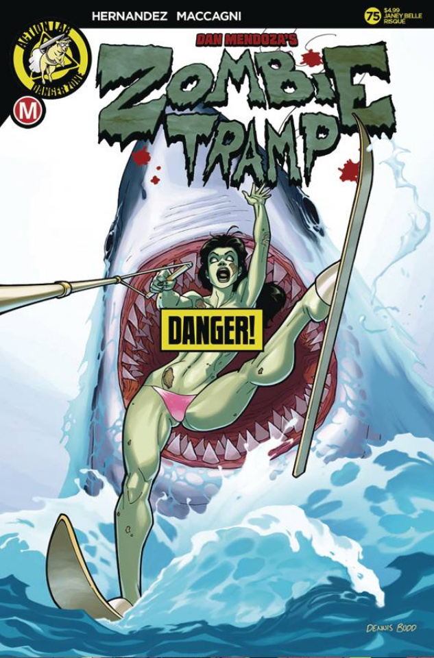 Zombie Tramp #75 (Dennis Budd Risque Cover)