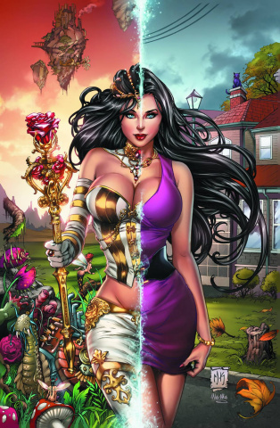 Grimm Fairy Tales: Wonderland #12 (Krome Purple Dress Cover)