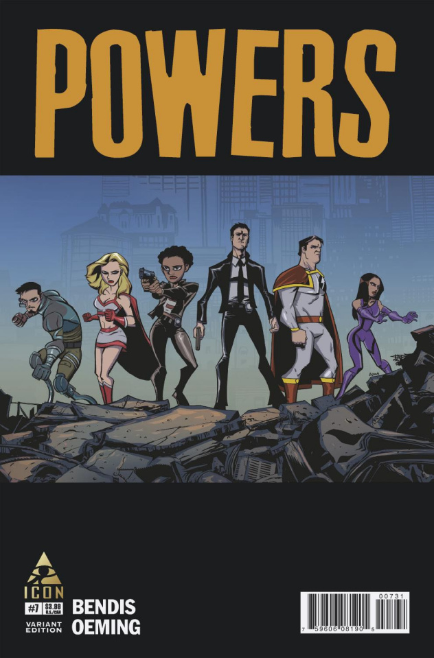 Powers #7 (Oeming Cover)