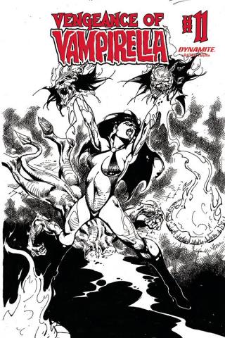 Vengeance of Vampirella #11 (11 Copy Castro B&W Cover)