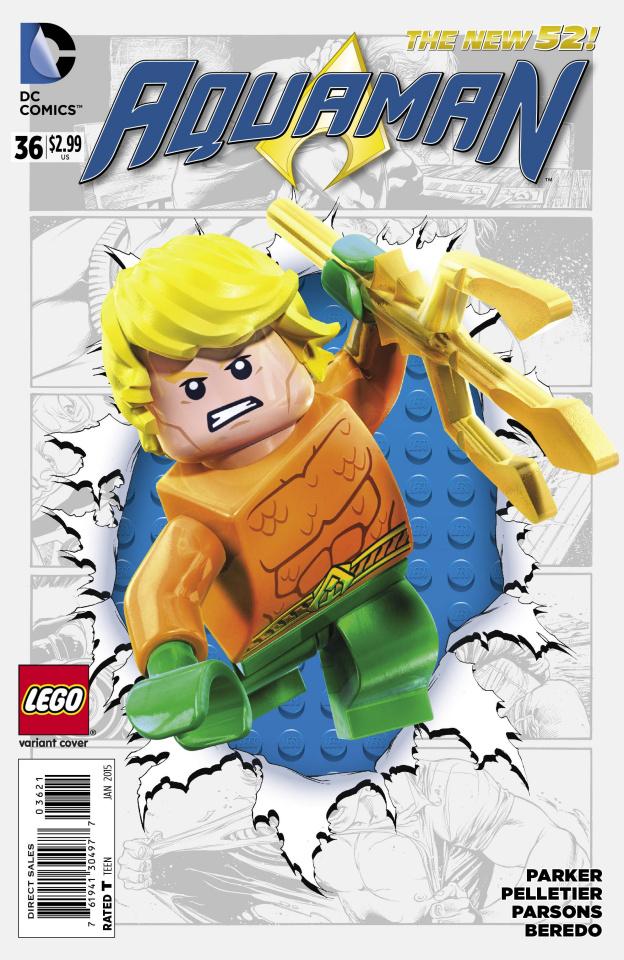 Aquaman #36 (Lego Cover)