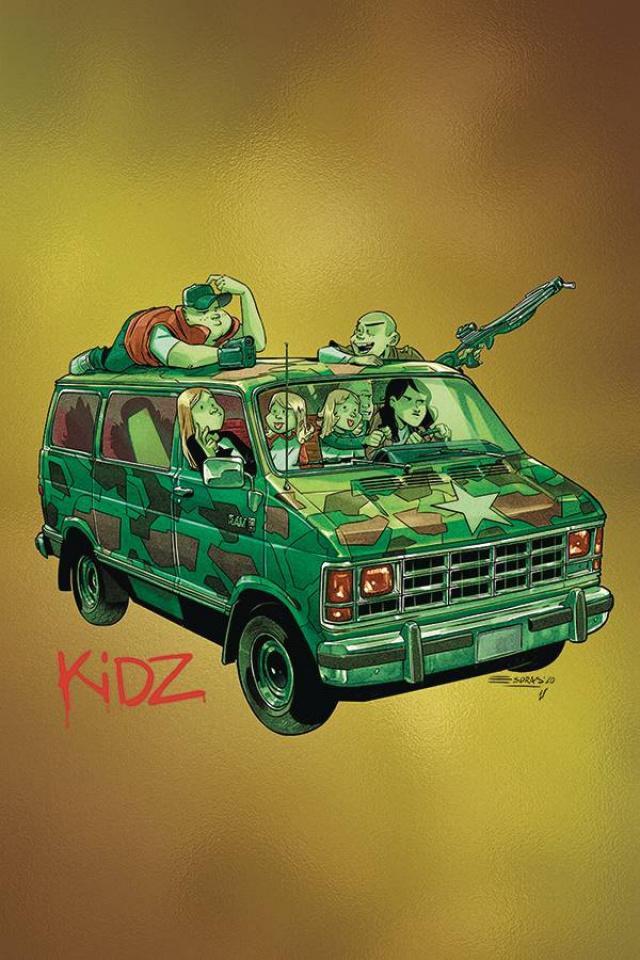 Kidz #5 (10 Copy Gorillaz Album Parody Foil Cover)