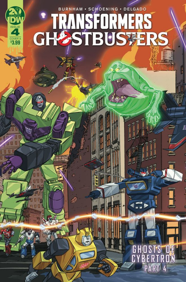The Transformers / Ghostbusters #4 (Schoening Cover)
