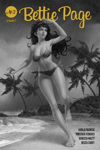 Bettie Page #2 (25 Copy Yoon B&W Cover)