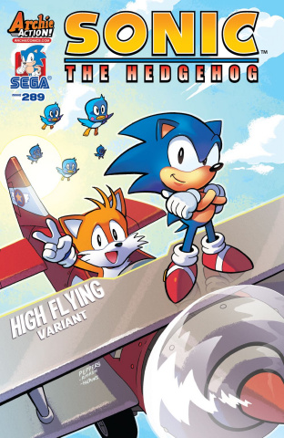Sonic the Hedgehog #289 (Jamal Peppers Cover)