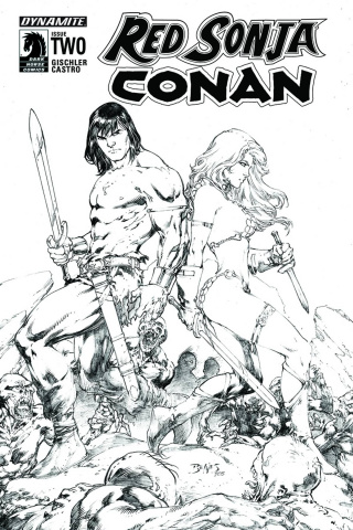 Red Sonja / Conan #2 (15 Copy Benes B&W Cover)