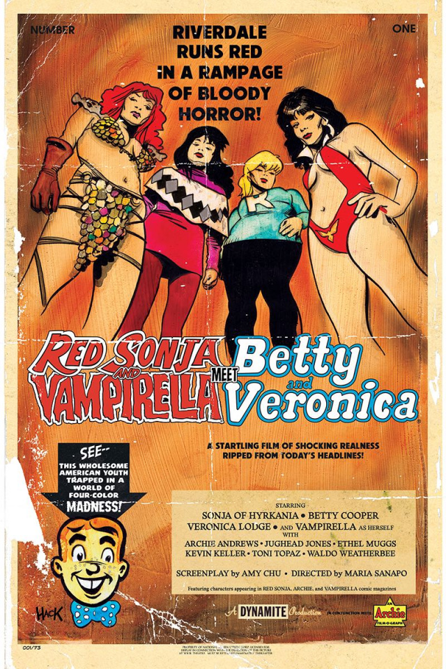 Red Sonja and Vampirella Meet Betty and Veronica #1 (Hack Cover)