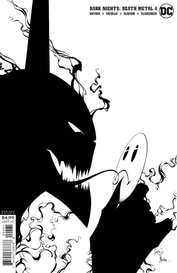 Dark Nights: Death Metal #4 (1:100 Greg Capullo & Jonathan Glapion Black & White Cover)