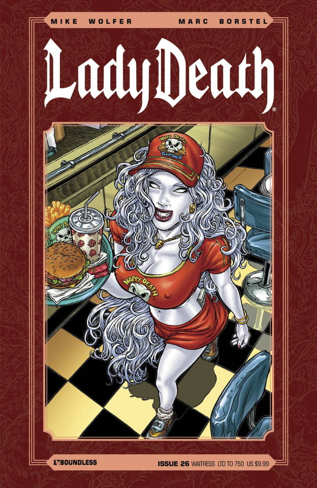Lady Death #26 (Waitress Cover)