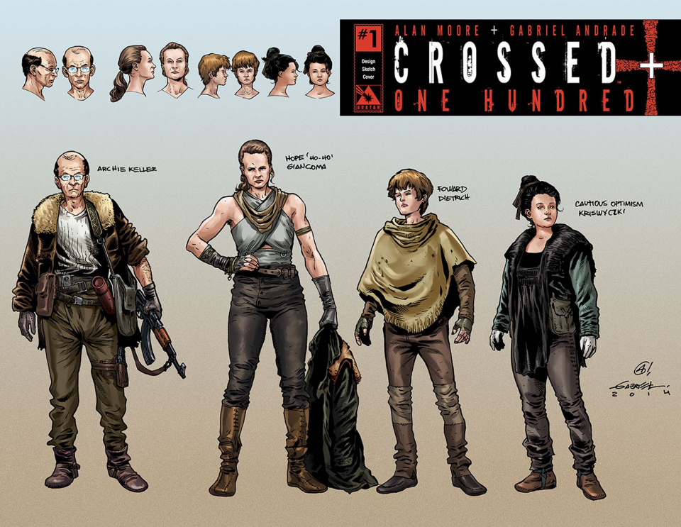 Crossed + One Hundred #1 (Design Sketch Cover)