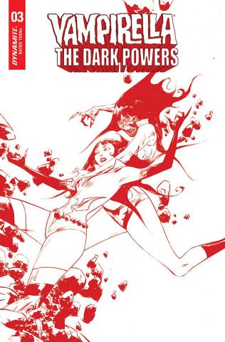 Vampirella: The Dark Powers #3 (Lee Crimson Red Line Art Cover)