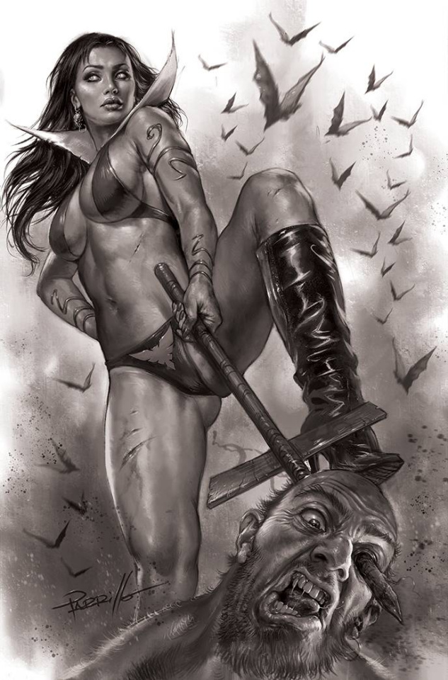 Vengeance of Vampirella #15 (25 Copy Parrillo B&W Virgin Cover)