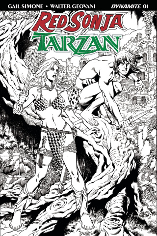 Red Sonja / Tarzan #1 (30 Copy Lopresti B&W Cover)