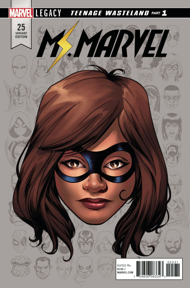 Ms. Marvel #25 (McKone Legacy Headshot Cover)