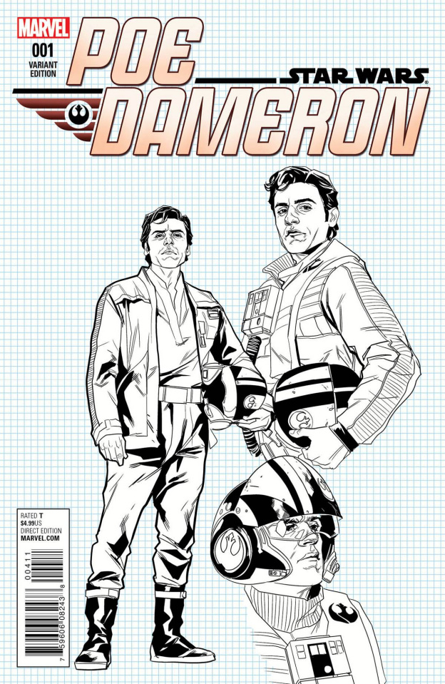 Star Wars: Poe Dameron #1 (Noto Design Cover)