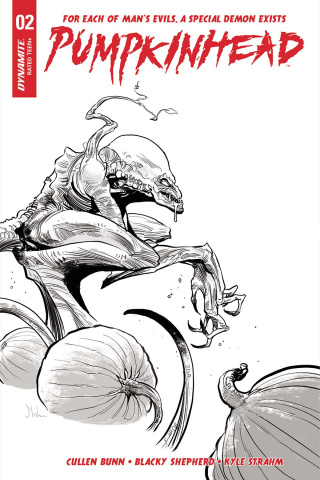 Pumpkinhead #2 (10 Copy Strahm B&W Cover)