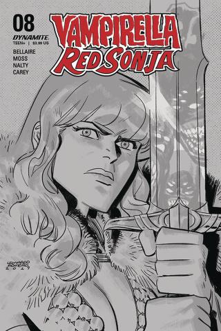 Vampirella / Red Sonja #8 (40 Copy Romero B&W Cover)