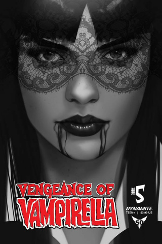 Vengeance of Vampirella #5 (30 Copy Oliver B&W Cover)