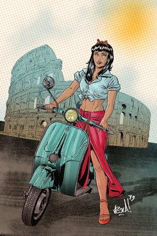 Bettie Page: Unbound #7 (40 Copy Federici Virgin Cover)