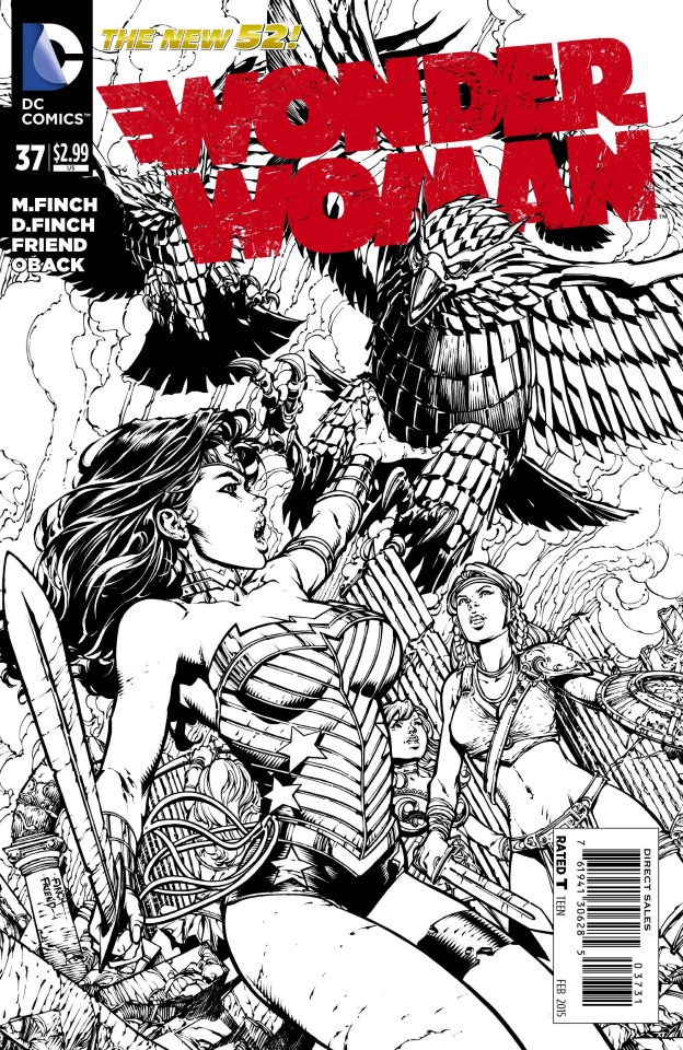 Wonder Woman #37 (Black & White Cover)